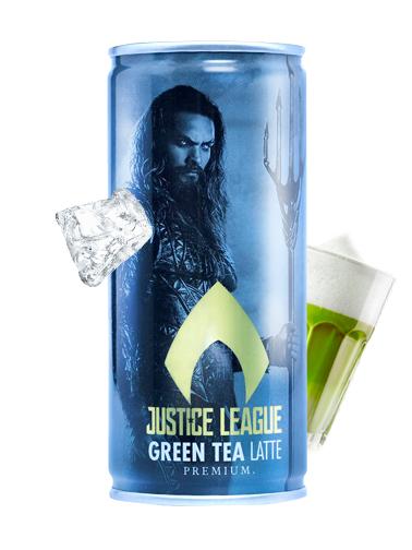 Té Verde Japonés Matcha Latte | La Liga de la Justicia | Aquaman 210 ml