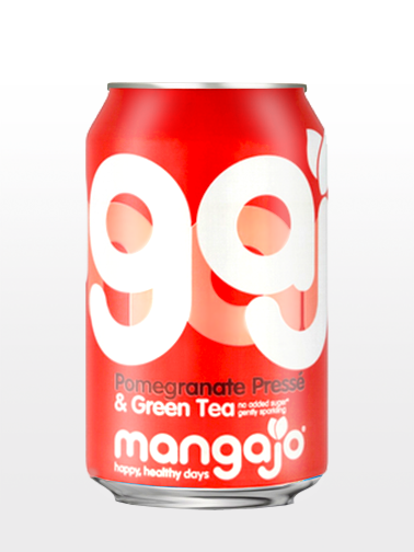 Bebida de Té Verde y Granada con Gas