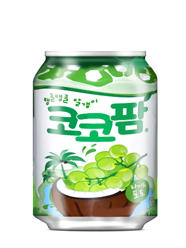 Bebida Coreana de Uva con Jelly Toppings de Coco