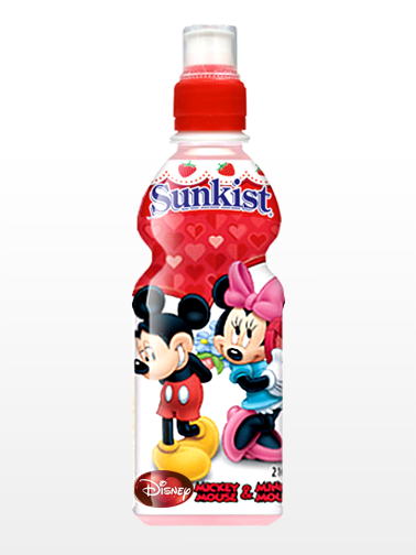 Bebida Coreana Sunkist de Fresa | Mickey & Minnie Mouse Edit. | Pedido GRATIS!