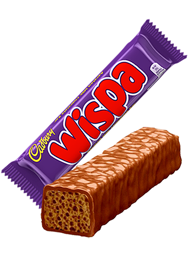 Barrita de Chocolate Cadbury con Mousse de Chocolate con Leche | Wispa 25 grs.