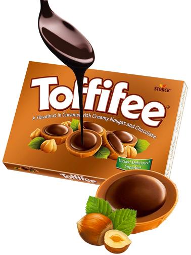 Caramelos de Toffee rellenos de Crema estilo Nutella 125 grs