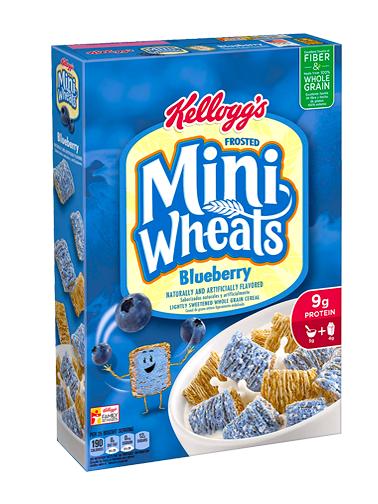 Cereales Almohadillas con Cobertura de Arándanos | Frosted Mini Wheals 439 grs