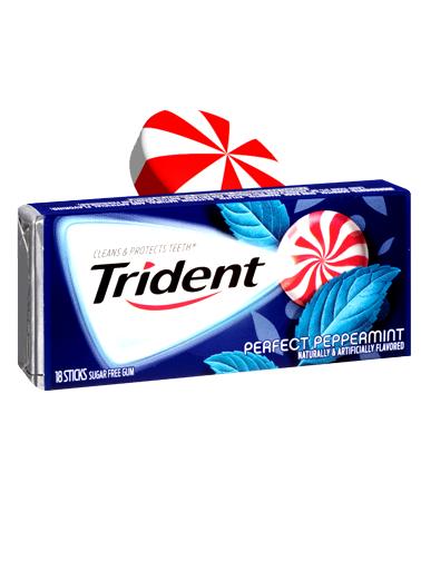 Chicles Trident Sin Azúcar de Menta Peppermint