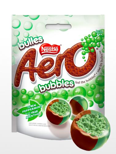 Pops de Chocolate Aero rellenos de Mousse de Menta Peppermint | 102 grs.