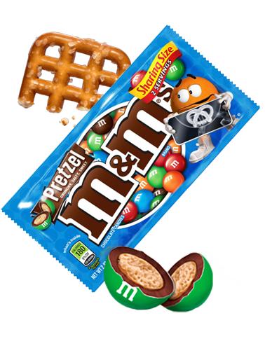 M&M's de Chocolate rellenos de Pretzel
