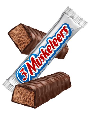 2 Barritas de Chocolate con Nougat de Vainilla | 3 Musketeers