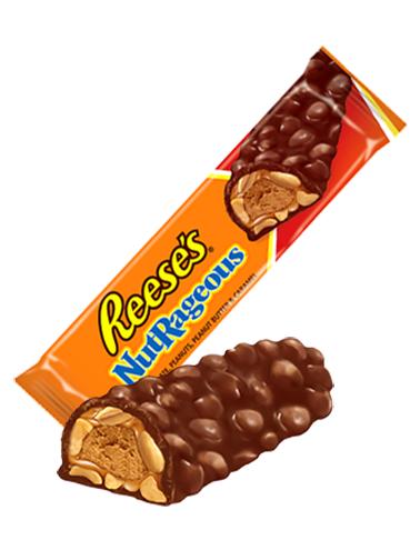 Barrita Reese's de Crema de Cacahuete, Caramelo y Toppings de Cacahuete