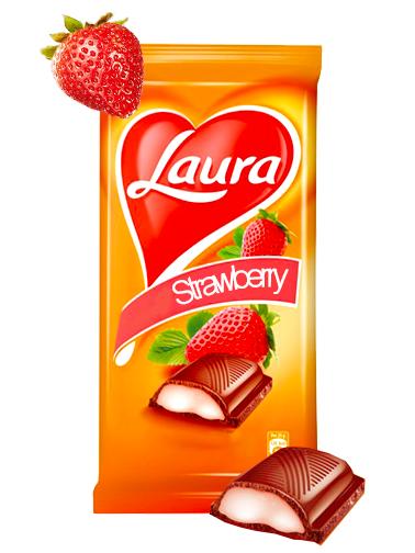 Chocolate Laura de Crema de Fresas 92 grs