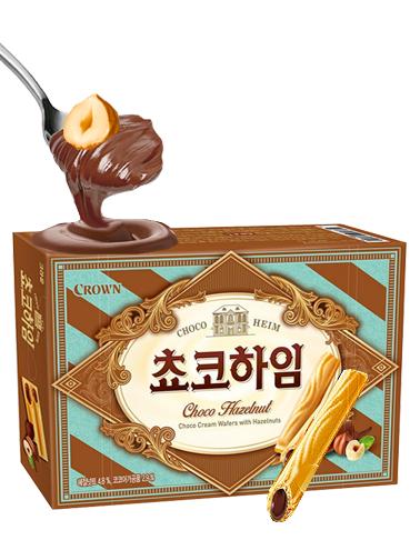 Sticks de Barquillo de Crema de Chocolate y Avellanas
