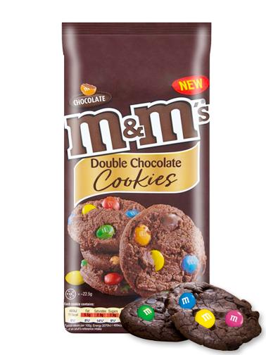 Cookies Chocolateadas Toppings de Chocolate y M&M's 180 grs
