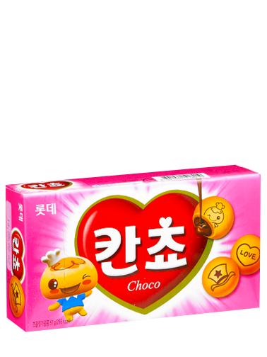 Galletas Coreanas Kancho de Crema de Chocolate