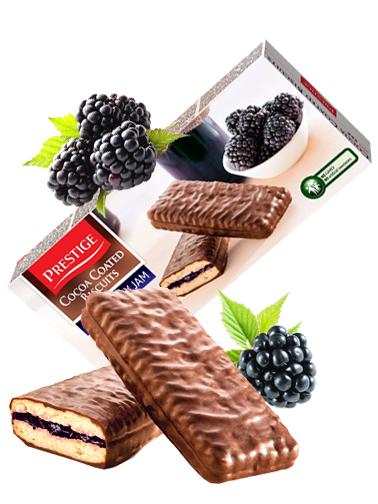 Galletas Prestige de Chocolate y Mermelada de Moras 216 grs