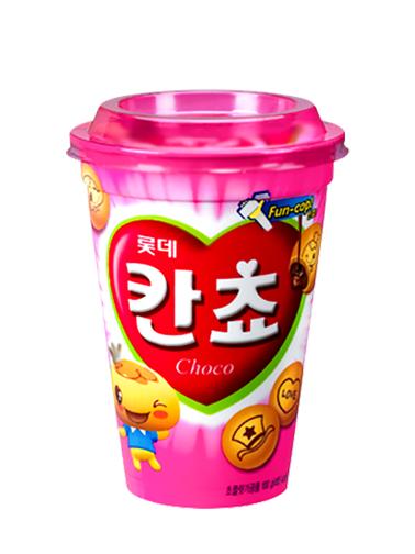 Galletas Coreanas Kancho de Crema de Chocolate | Edición Cup