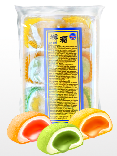 Mochis Fruits Mix | Rellenos de Crema de Ciruela, Maracuyá y Pomelo | Bag