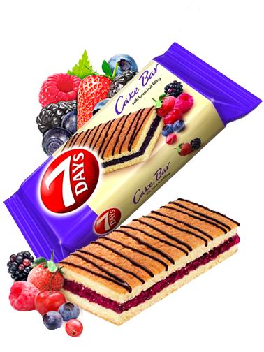 Pastelito de Mermelada de Frutas del Bosque y Chocolate | Combini 7 Days 30 grs | Pedido GRATIS!