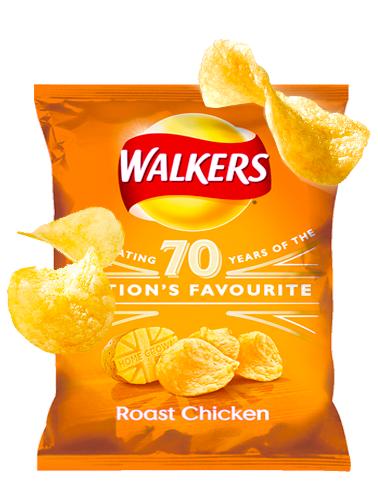 Patatas Fritas Walkers Lays Sabor Pollo Asado 25 grs | Pedido GRATIS!