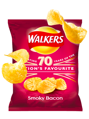 Patatas Fritas Walkers Lays Sabor Bacon Ahumado 25 grs | Pedido GRATIS!