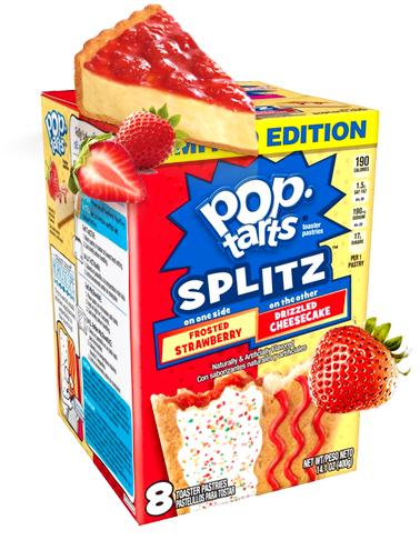 Pop Tarts Splitz mitad de Tarta de Queso y Fresa
