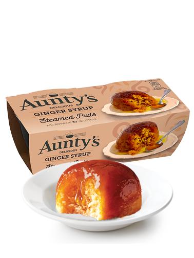 Puddings Bizcochados Especiados con Sirope de Jengibre