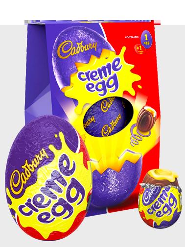 Huevo Grande de Chocolate Cadbury relleno de Mini Huevo de Crema