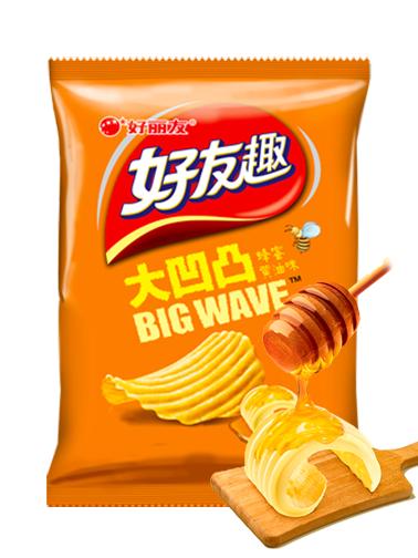 Patatas Coreanas Chips Onduladas Sabor Mantequilla y Miel
