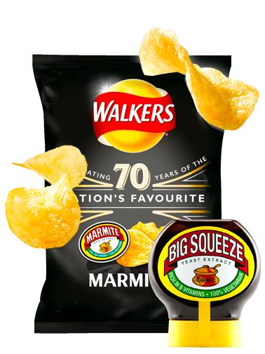 Patatas Fritas Walkers Lays Sabor Salsa Marmite 32,5 grs