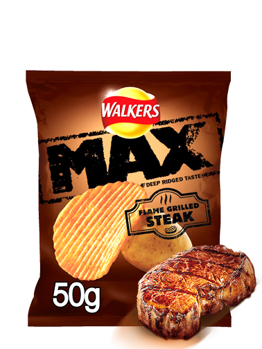 Patatas Fritas Onduladas Walkers Lays Sabor Carne a la Brasa 50 grs