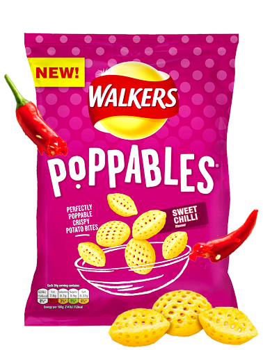 Snack Walkers Poppables de Chili Dulce 110 grs. | Pedido GRATIS!