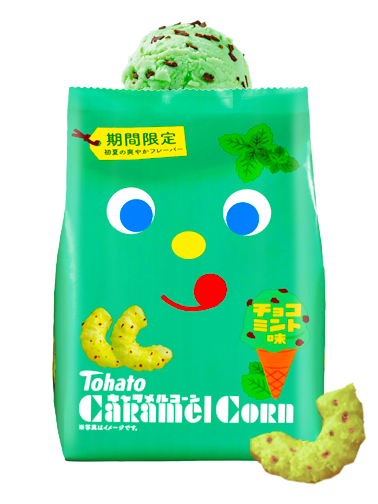 Snack Lovely Tohato Sabor Helado Menta Chocolate 77 grs