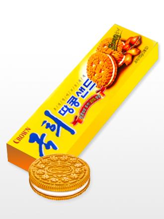 Galletas Coreanas de Crema de Vainilla y Toppings de Cacahuetes