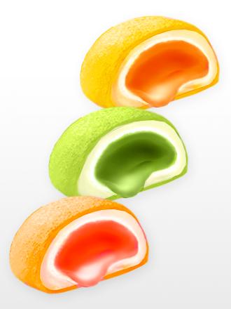 Mochis Fruits Mix | Rellenos de Crema de Ciruela, Maracuyá y Pomelo | Box