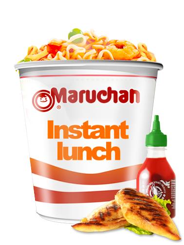 Ramen Maruchan Instant Lunch Cup, Pollo Sriracha   Nº1 Mundial