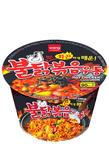 Fideos Udon Frescos Coreanos con Pollo | Ultra Picante 221 grs