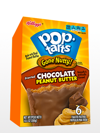 Pop Tarts Frosted Chocolate y Crema de Cacahuete 300 grs.