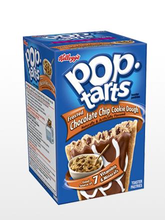 Pop Tarts Frosted de Masa de Cookies y Perlas de Chocolate