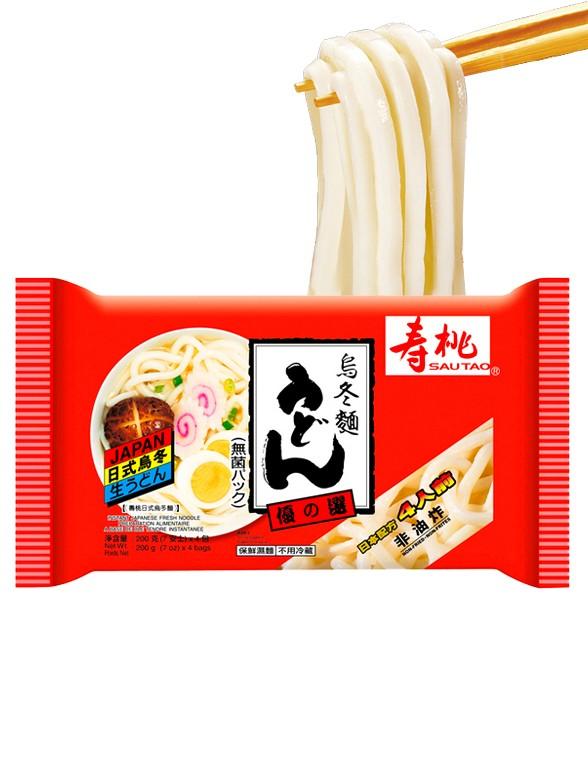4 Raciones Udón Frescos   Estilo Japonés 800 grs.