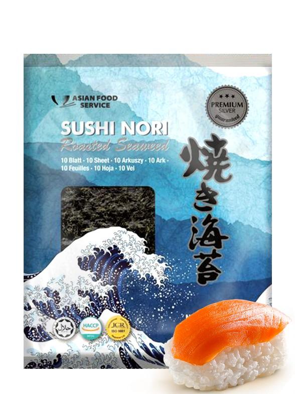 Alga Nori Coreana Premium Silver para Sushi | 10 hojas