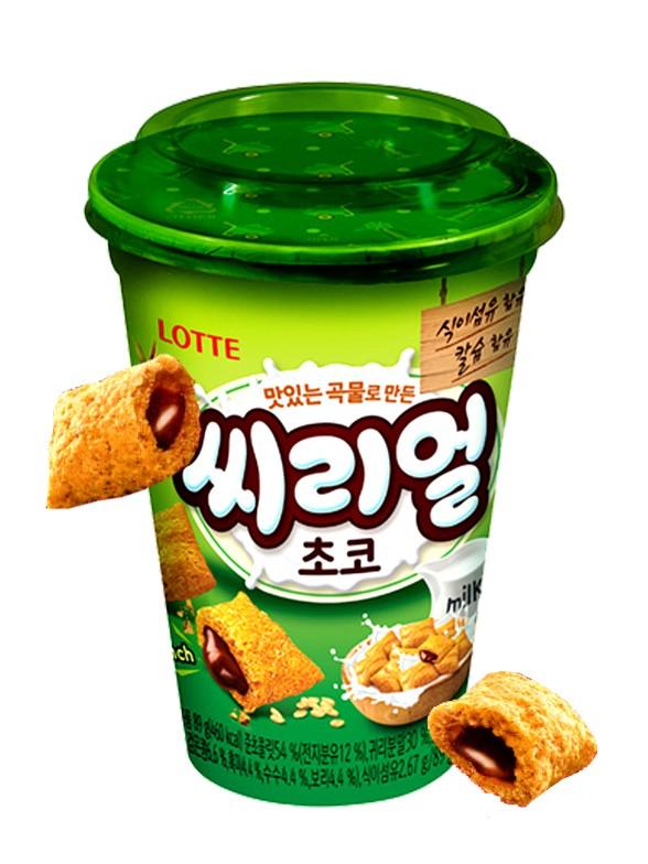 Almohadillas Coreanas de Avena y Trigo con Chocolate | Lotte Cup