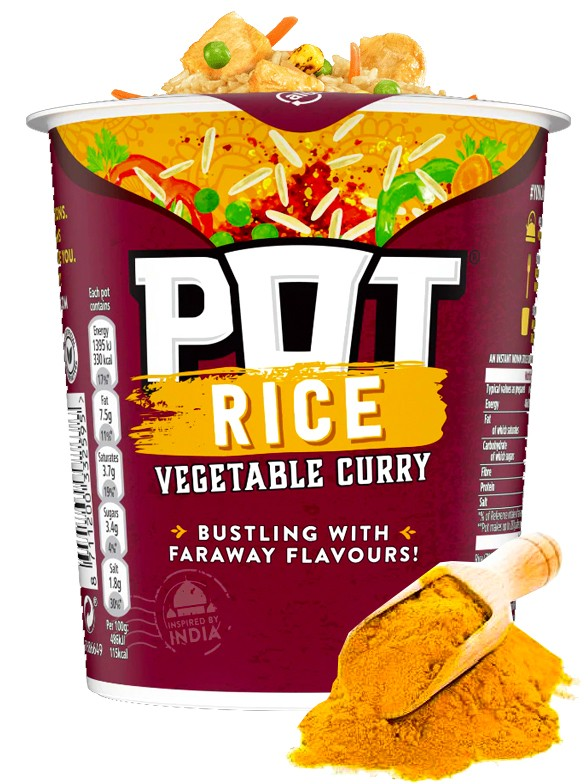 PoP PoT Arroz con Curry 87 grs.