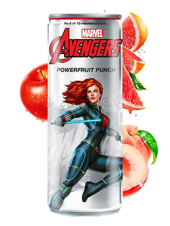 Soda Los Vengadores  Powerfruit Punch Viuda Negra | Edición Coleccionista 355 ml