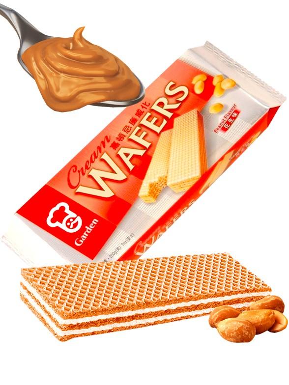 Wafers rellenas de Crema de Cacahuete 200 grs