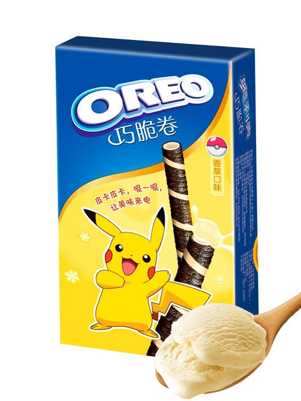 Sticks de Barquillo de Oreo rellenos de Vainilla | Edición Pokemon 55 grs