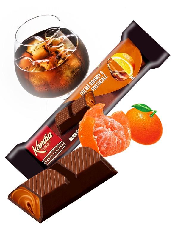 Chocolate Negro Relleno de Brandy y Naranja 46 grs
