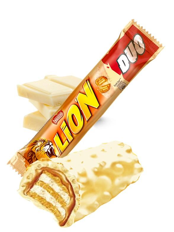 Barrita de Chocolate Blanco y Caramelo | Lion Nestle 60 grs