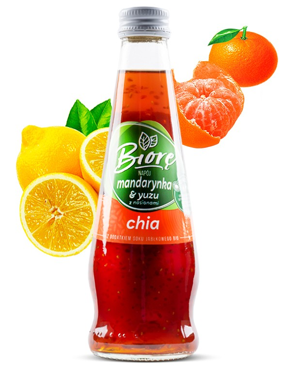 Bebida Sabor Mandarina y Yuzu con Chia | 225 ml.