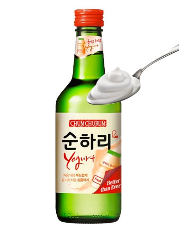 Licor Coreano Soju Chum Churum Sabor Yogur Yakault  360 ml