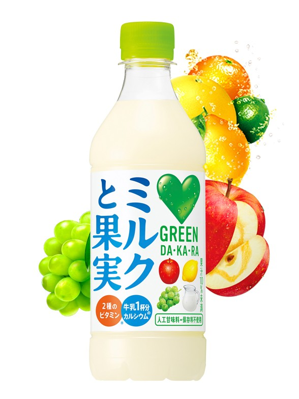 Bebida DAKARA de Leche y Zumo de 3 Frutas   430 ml.