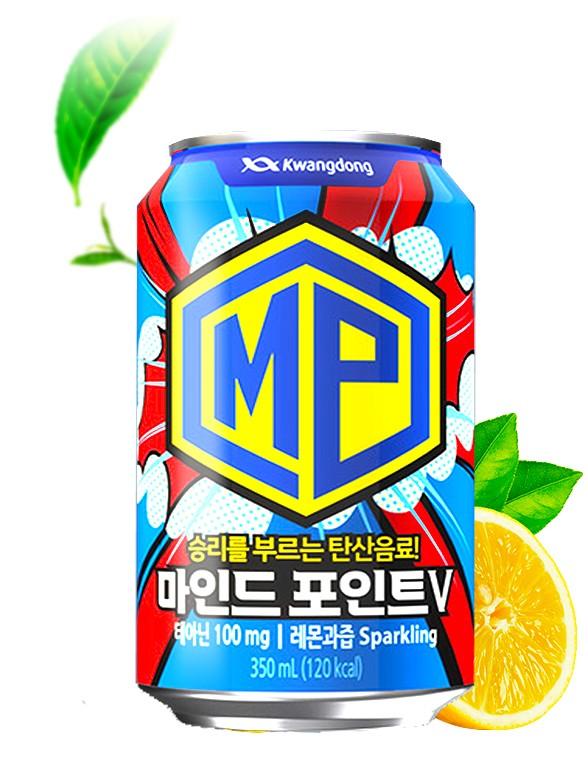 Bebida Coreana Energética Mindpoint Limón y Teanina 350 ml.
