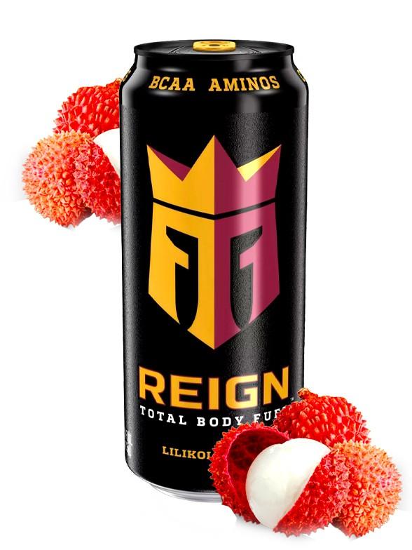 Bebida Energética Reign Lilikoi Lychee | USA 473 ml.